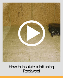How to insulate a loft Rockwool