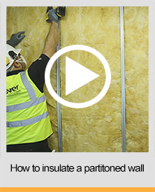 How to insulate a partitioned wall
