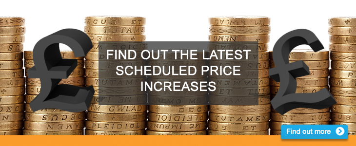 Find out about price increases