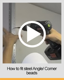 How to fit angle/ corner beads