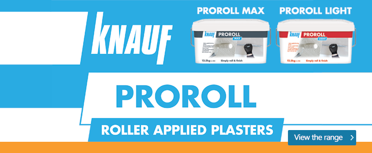 Check out the brand new Knauf ProRoll range